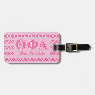 Theta Phi Alpha Pink Letters Luggage Tag