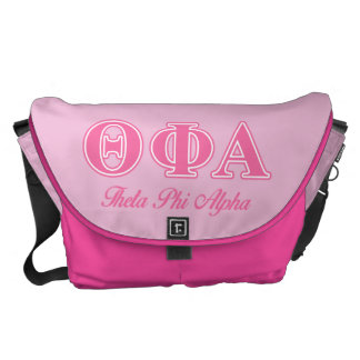Theta Phi Alpha Pink Letters Courier Bags