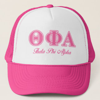 Theta Phi Alpha Pink Letters Trucker Hat