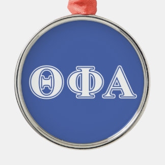 Theta Phi Alpha White and Blue Letters Christmas Ornament