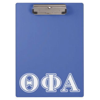 Theta Phi Alpha White and Blue Letters Clipboard