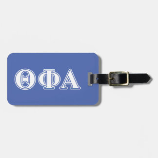 Theta Phi Alpha White and Blue Letters Luggage Tag