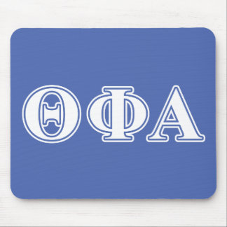 Theta Phi Alpha White and Blue Letters Mouse Mat