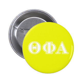 Theta Phi Alpha White and Yellow 6 Cm Round Badge