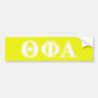 Theta Phi Alpha White and Yellow Bumper Sticker