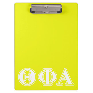 Theta Phi Alpha White and Yellow Clipboard
