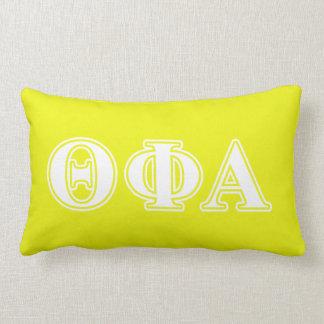Theta Phi Alpha White and Yellow Lumbar Cushion