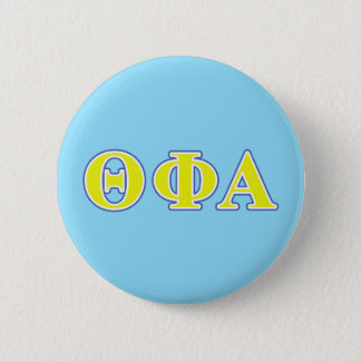 Theta Phi Alpha Yellow and Blue Letters 6 Cm Round Badge