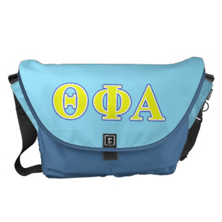 Theta Phi Alpha Yellow and Blue Letters Commuter Bags