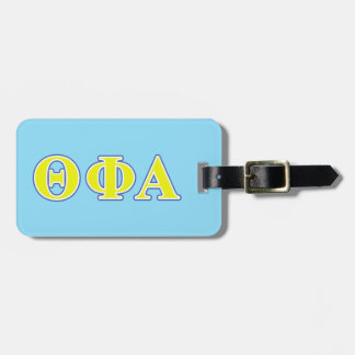 Theta Phi Alpha Yellow and Blue Letters Luggage Tag