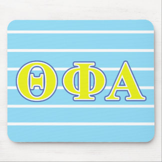 Theta Phi Alpha Yellow and Blue Letters Mouse Mat
