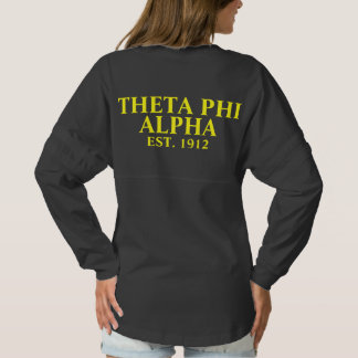 Theta Phi Alpha Yellow and Blue Letters Spirit Jersey