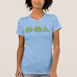 Theta Phi Alpha Yellow and Blue Letters T-Shirt