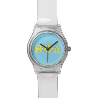 Theta Phi Alpha Yellow and Blue Letters Watch