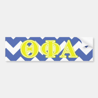 Theta Phi Alpha Yellow Letters Bumper Sticker