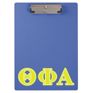 Theta Phi Alpha Yellow Letters Clipboard