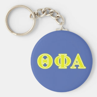 Theta Phi Alpha Yellow Letters Key Ring