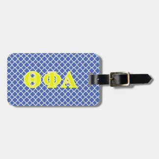 Theta Phi Alpha Yellow Letters Luggage Tag