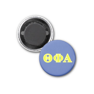 Theta Phi Alpha Yellow Letters Magnet