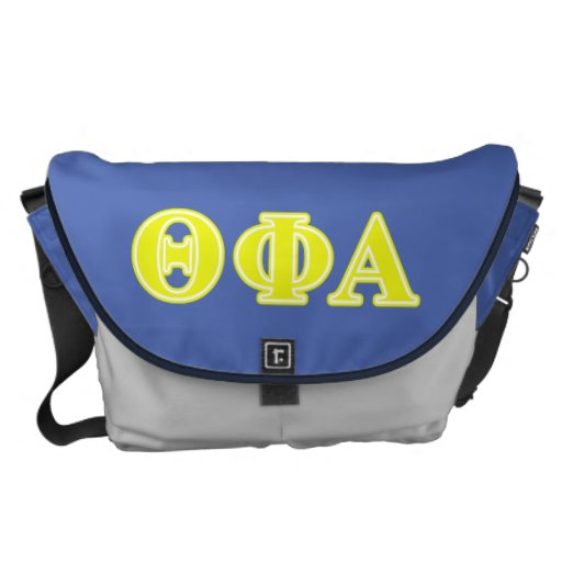 Theta Phi Alpha Yellow Letters Messenger Bags