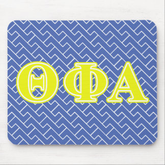 Theta Phi Alpha Yellow Letters Mouse Pad