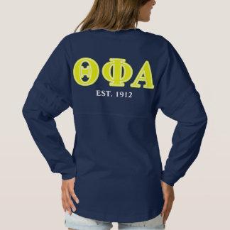 Theta Phi Alpha Yellow Letters Spirit Jersey