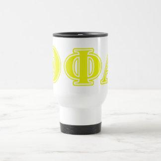 Theta Phi Alpha Yellow Letters Travel Mug