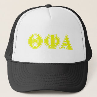 Theta Phi Alpha Yellow Letters Trucker Hat