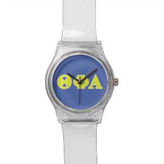 Theta Phi Alpha Yellow Letters Watch
