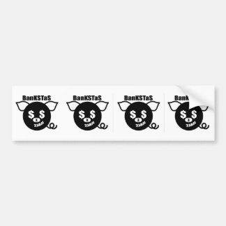 Theta Pig Bumpersticker Bumper Sticker