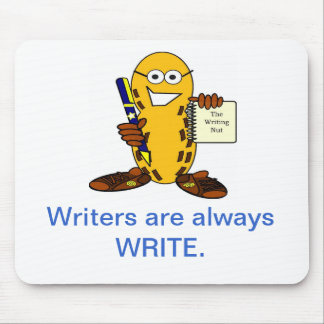 thewritingnutlogo 2000 x 2000, Writers are alwa... Mouse Pad