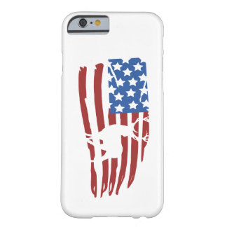 they american flag to deer hunting barely there iPhone 6 case
