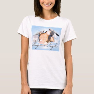 They are Angels Baby Doll white T-Shirt