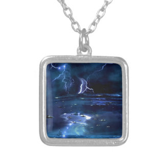 they are coming silver plated necklace