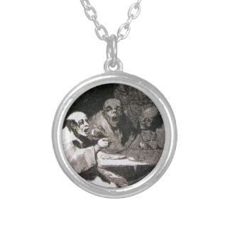 They are hot by Francisco Goya Round Pendant Necklace