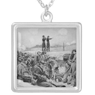 They Awaited the Order to Charge Silver Plated Necklace