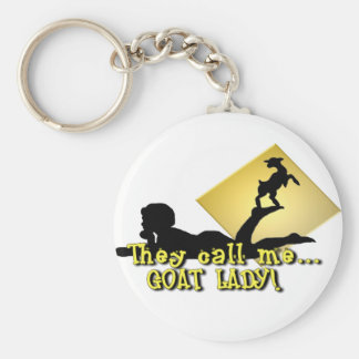 They Call Me GOAT LADY! Basic Round Button Key Ring