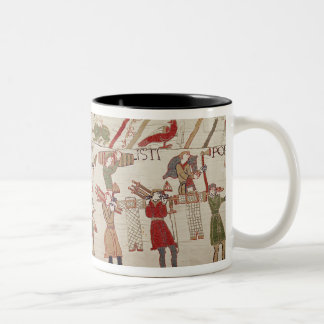 They carry arms to the ships Two-Tone coffee mug