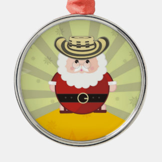 they colombian chirstmas Silver-Colored round decoration