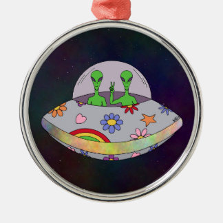 They Come in Peace UFO Christmas Ornament