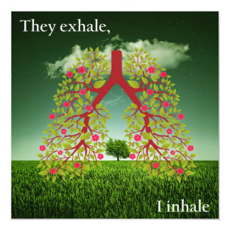 They exhale, I inhale Card