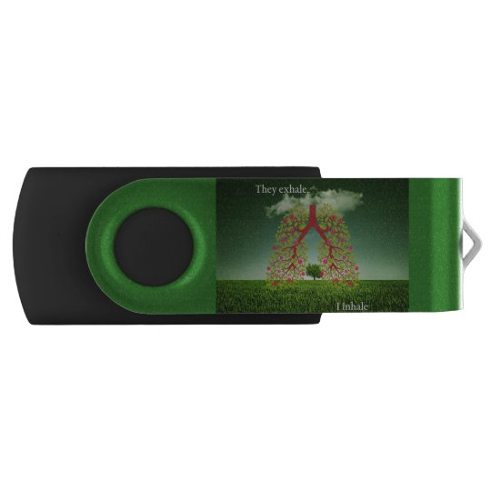 They exhale, I inhale USB Flash Drive