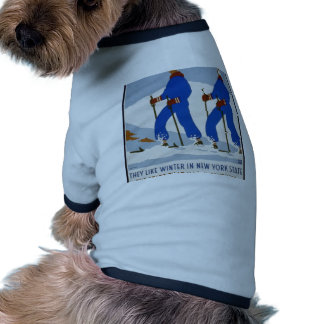 They like winter in New York State Ringer Dog Shirt
