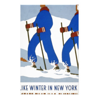 They like winter in New York State Stationery Paper