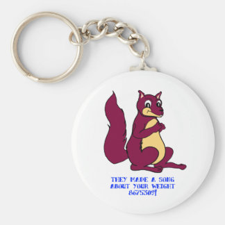 They made a song about your weight - 8675309! basic round button key ring