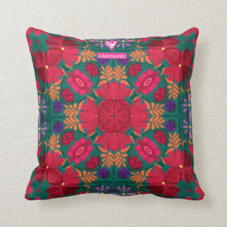they mexican textile flowers cushion