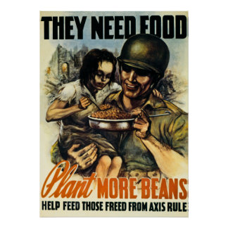 They Need Food - Vintage World War 2 Poster