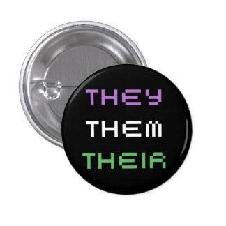 they pronouns 3 cm round badge