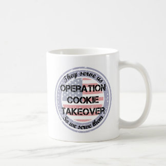 They Serve Us Coffee Mug
