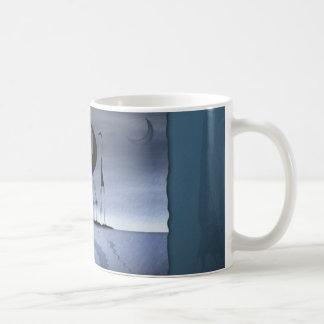 They stole the moon 3 basic white mug